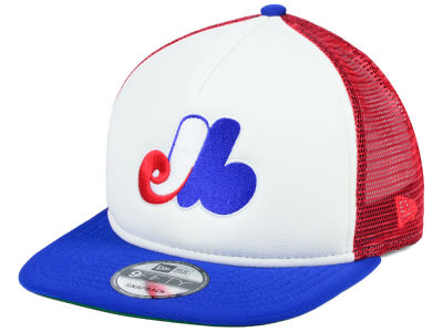 Montreal Expos New Era MLB Classic Trucker 9FIFTY Snapback Cap