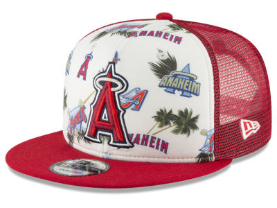 Los Angeles Angels New Era MLB Aloha Trucker 9FIFTY Snapback Cap