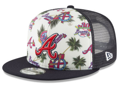 Atlanta Braves New Era MLB Aloha Trucker 9FIFTY Snapback Cap