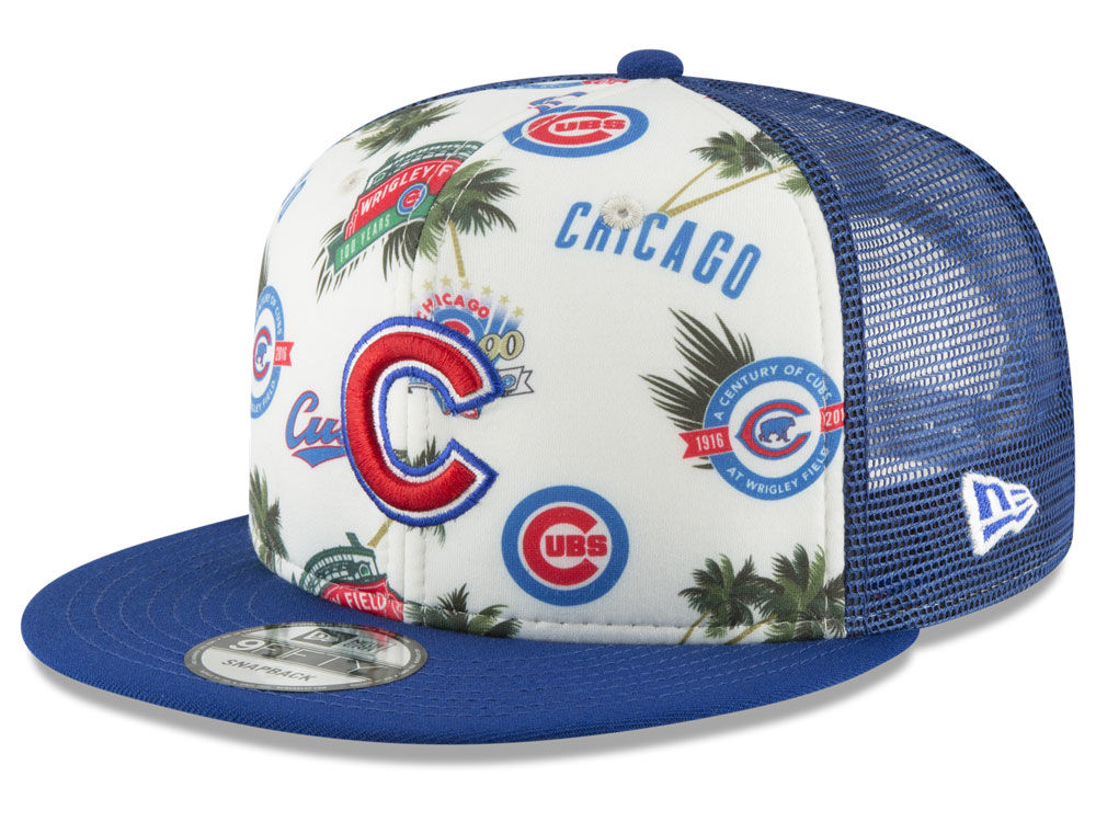 2181ae4668f ... sale chicago cubs new era mlb aloha trucker 9fifty snapback cap f6ffe  76adb