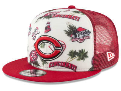 Cincinnati Reds New Era MLB Aloha Trucker 9FIFTY Snapback Cap