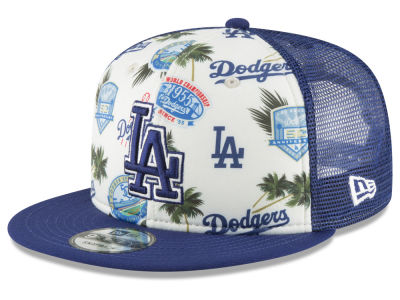 Los Angeles Dodgers New Era MLB Aloha Trucker 9FIFTY Snapback Cap