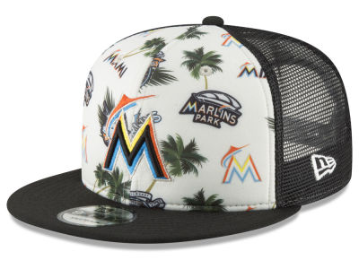 Miami Marlins New Era MLB Aloha Trucker 9FIFTY Snapback Cap