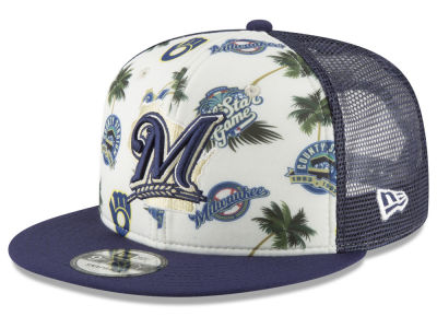 Milwaukee Brewers New Era MLB Aloha Trucker 9FIFTY Snapback Cap