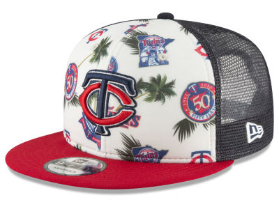 Minnesota Twins New Era MLB Aloha Trucker 9FIFTY Snapback Cap