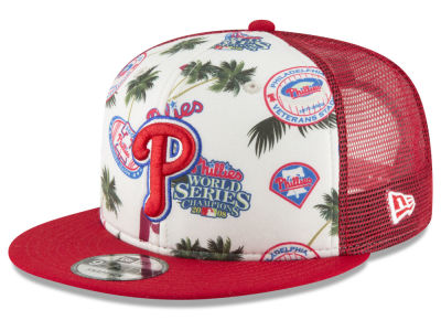 Philadelphia Phillies New Era MLB Aloha Trucker 9FIFTY Snapback Cap
