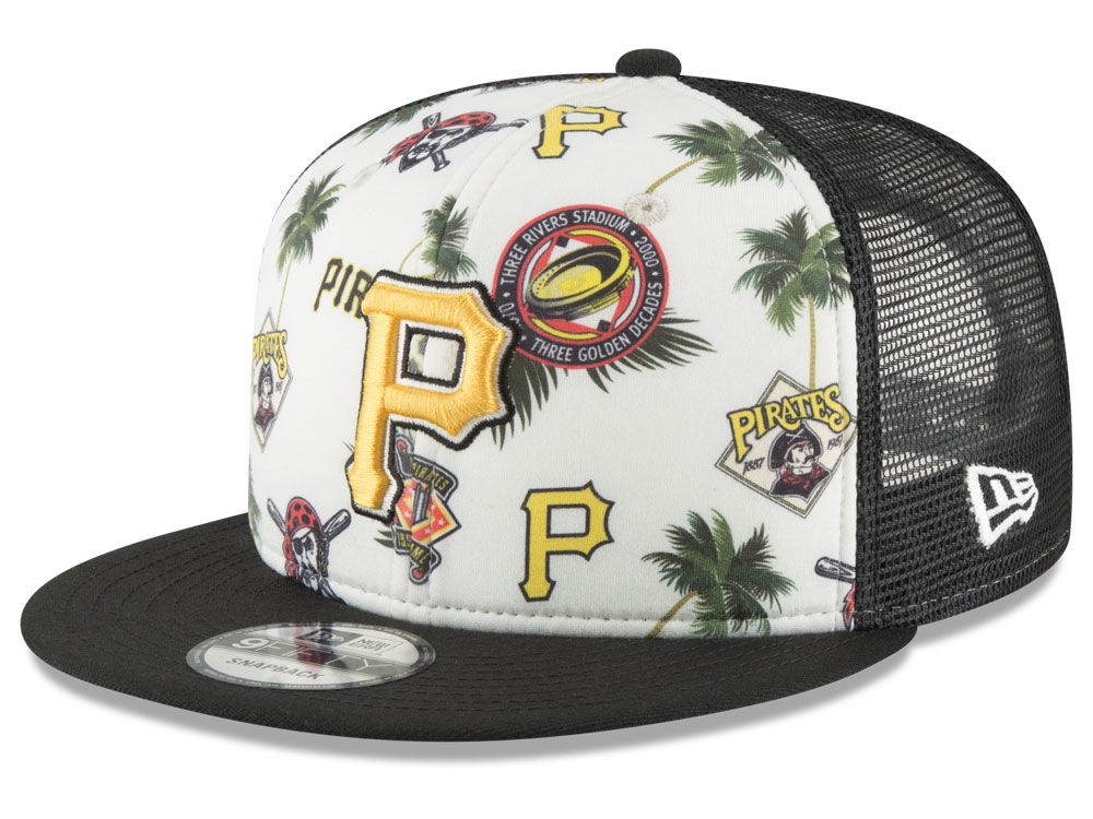 Pittsburgh Pirates New Era MLB Aloha Trucker 9FIFTY Snapback Cap ... 24ab8494240c