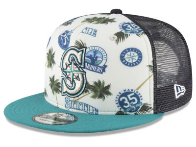 Seattle Mariners New Era MLB Aloha Trucker 9FIFTY Snapback Cap