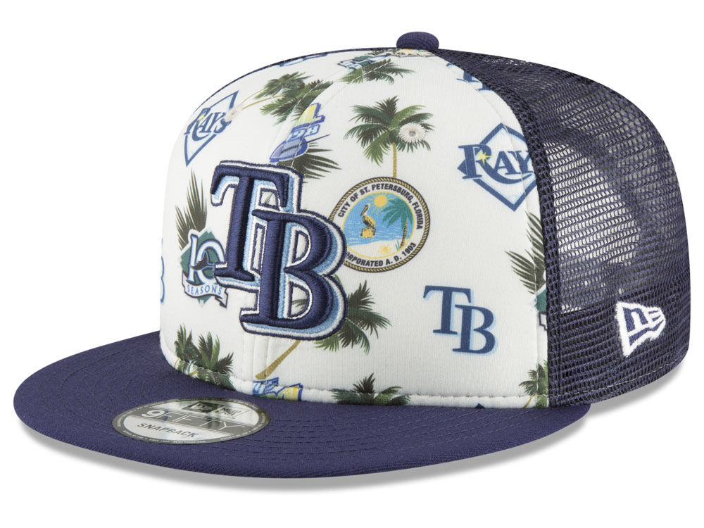 fa2dbeef61b ... inexpensive tampa bay rays new era mlb aloha trucker 9fifty snapback cap  66724 7eb96