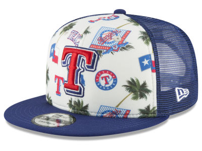 Texas Rangers New Era MLB Aloha Trucker 9FIFTY Snapback Cap