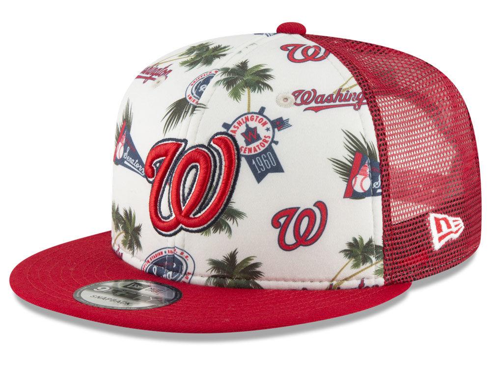 Washington Nationals New Era MLB Aloha Trucker 9FIFTY Snapback Cap ... 65d8a00a55e1