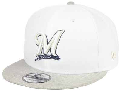 Milwaukee Brewers New Era MLB Bright Heather 9FIFTY Snapback Cap