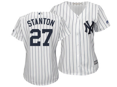 New York Yankees Giancarlo Stanton Majestic MLB Women's Cool Base Player Replica Jersey