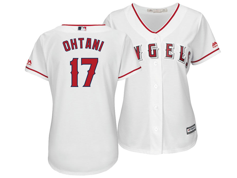 Los Angeles Angels Shohei Ohtani Majestic MLB Women s Cool Base Player  Replica Jersey  54844c19d3