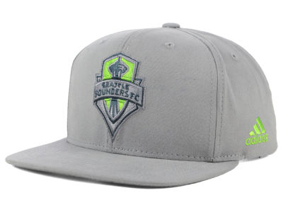 Seattle Sounders FC adidas MLS Gray Snapback Cap