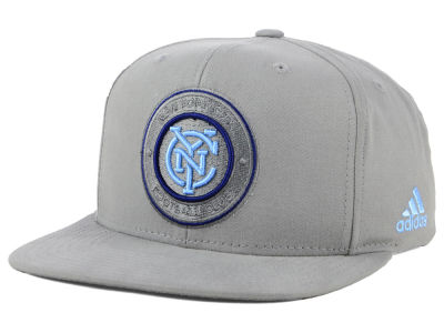 New York City FC adidas MLS Gray Snapback Cap