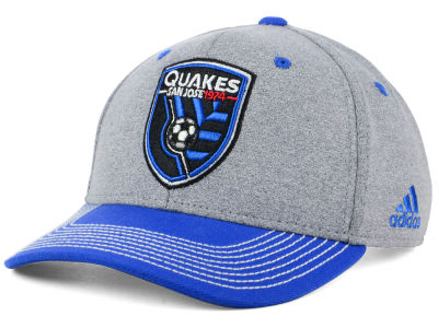 San Jose Earthquakes adidas MLS Structure Adjustable Cap