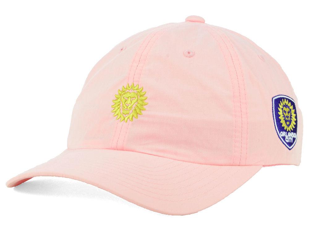 the latest 55fdc b60de official store orlando city sc adidas mls pink easy adjustable cap 465e9  44c9a