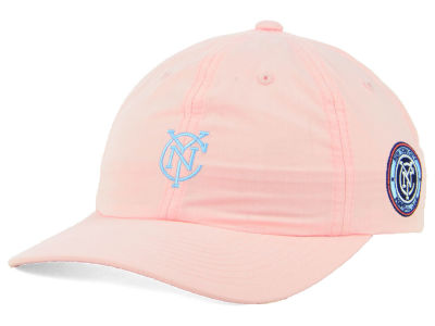 New York City FC adidas MLS Pink Easy Adjustable Cap