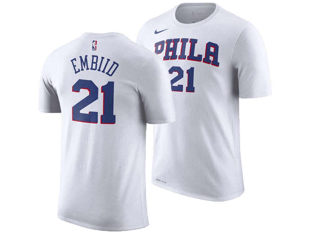 d33f819d2 Philadelphia 76ers Joel Embiid Nike NBA Men s Association Player T-Shirt