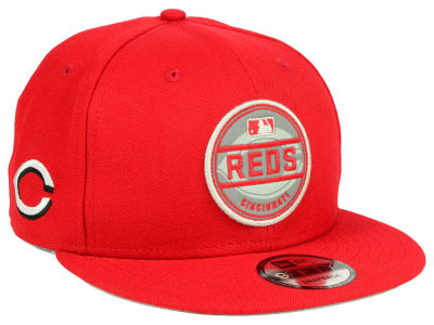 Cincinnati Reds New Era MLB Circle Patch Reflective 9FIFTY Snapback Cap