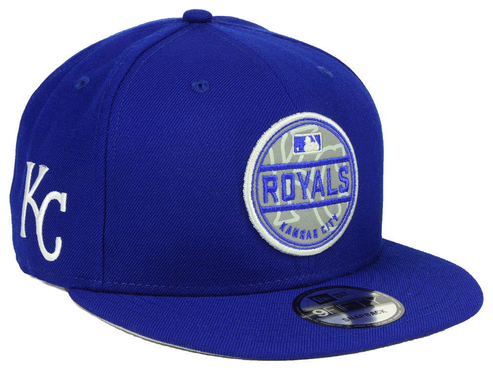 75b24926f39 italy kansas city royals new era mlb circle patch reflective 9fifty snapback  cap lids 8df02 6aee2