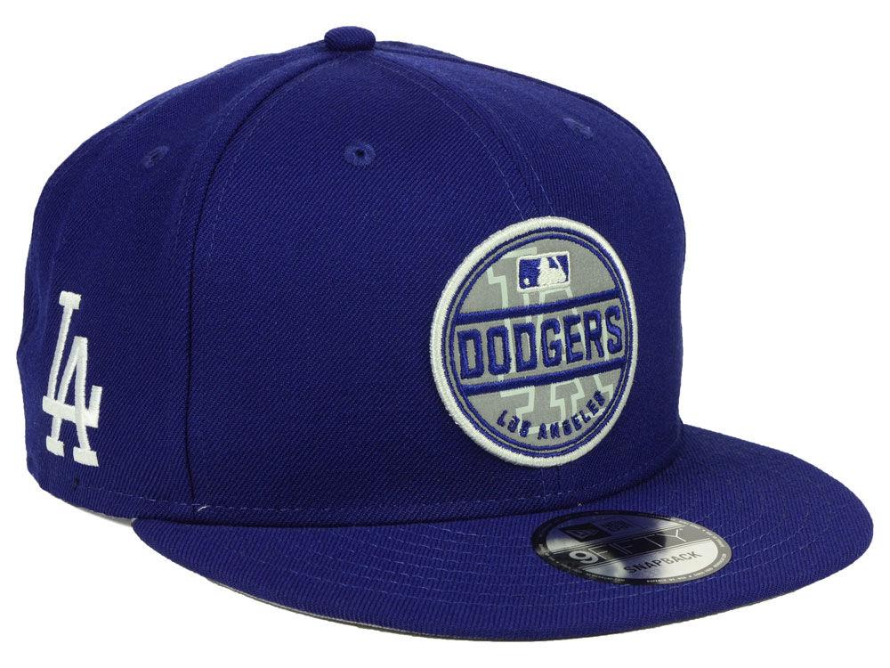 Los Angeles Dodgers New Era MLB Circle Patch Reflective 9FIFTY Snapback Cap a1b65f3d9c