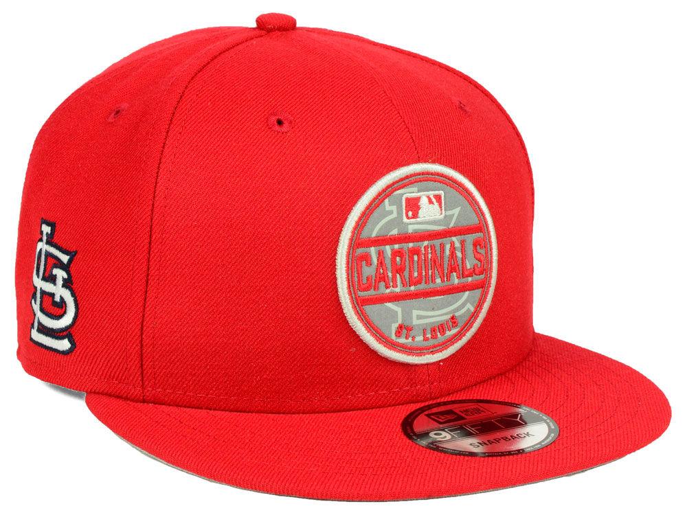 6718c27875d St. Louis Cardinals New Era MLB Circle Patch Reflective 9FIFTY Snapback Cap