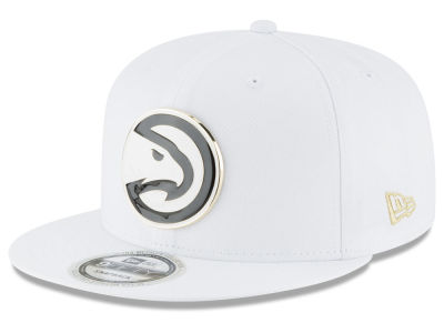 Atlanta Hawks New Era NBA White Enamel 9FIFTY Snapback Cap
