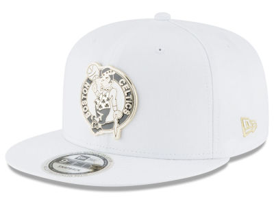 Boston Celtics New Era NBA White Enamel 9FIFTY Snapback Cap