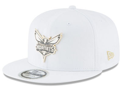 Charlotte Hornets New Era NBA White Enamel 9FIFTY Snapback Cap