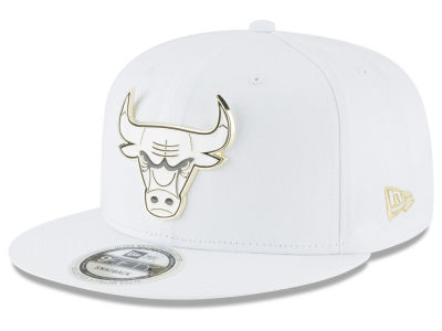 Chicago Bulls New Era NBA White Enamel 9FIFTY Snapback Cap