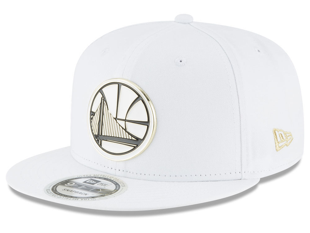 8d0bd3c8e8b Golden State Warriors New Era NBA White Enamel 9FIFTY Snapback Cap ...