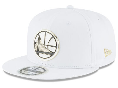 Golden State Warriors New Era NBA White Enamel 9FIFTY Snapback Cap
