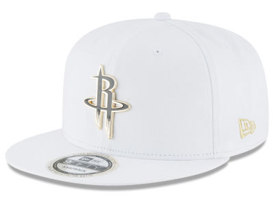 Houston Rockets New Era NBA White Enamel 9FIFTY Snapback Cap