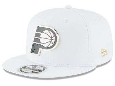 Indiana Pacers New Era NBA White Enamel 9FIFTY Snapback Cap