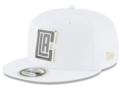 Los Angeles Clippers New Era NBA White Enamel 9FIFTY Snapback Cap