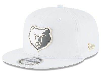 Memphis Grizzlies New Era NBA White Enamel 9FIFTY Snapback Cap
