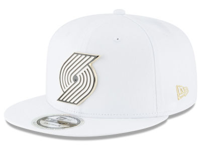 Portland Trail Blazers New Era NBA White Enamel 9FIFTY Snapback Cap