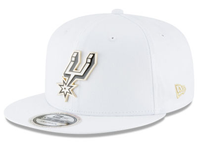 San Antonio Spurs New Era NBA White Enamel 9FIFTY Snapback Cap
