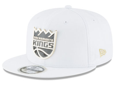 Sacramento Kings New Era NBA White Enamel 9FIFTY Snapback Cap