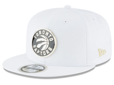 Toronto Raptors New Era NBA White Enamel 9FIFTY Snapback Cap
