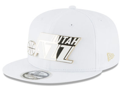 Utah Jazz New Era NBA White Enamel 9FIFTY Snapback Cap