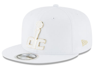 Washington Wizards New Era NBA White Enamel 9FIFTY Snapback Cap