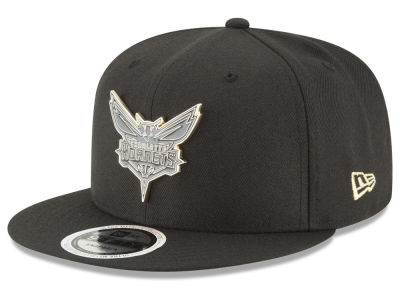 Charlotte Hornets New Era NBA Black Enamel 9FIFTY Snapback Cap