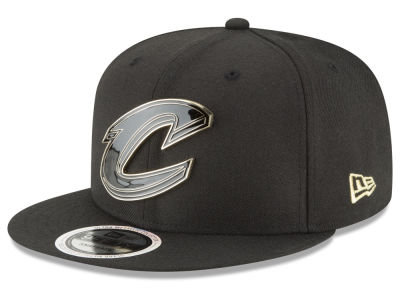 Cleveland Cavaliers New Era NBA Black Enamel 9FIFTY Snapback Cap