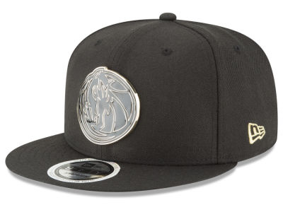 Dallas Mavericks New Era NBA Black Enamel 9FIFTY Snapback Cap