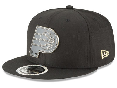 Indiana Pacers New Era NBA Black Enamel 9FIFTY Snapback Cap