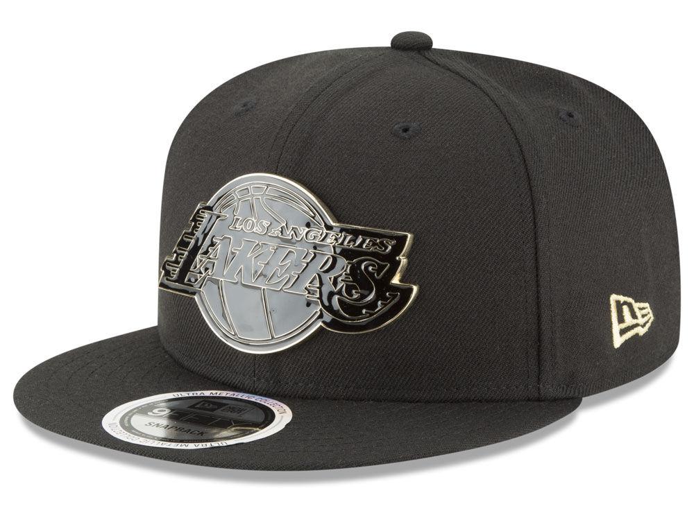 Los Angeles Lakers New Era NBA Black Enamel 9FIFTY Snapback Cap ... 2665a9350