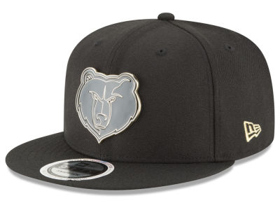 Memphis Grizzlies New Era NBA Black Enamel 9FIFTY Snapback Cap